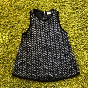 Anthropologie 9-H15 Stcl blue tank top